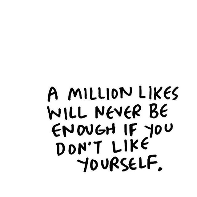 Social media's highlight reel assaults our self-worth continuously. We have to be particularly brave these days to fight the pull of virtual validation (which is empty and short lived). Instead, curb the thumb scroll 🔜 connect in person with people who love you, reword that negative inner voice, and be compassionate with all aspects of yourself. #LikeYourselfTheMost #Strength #SocialMediaTips