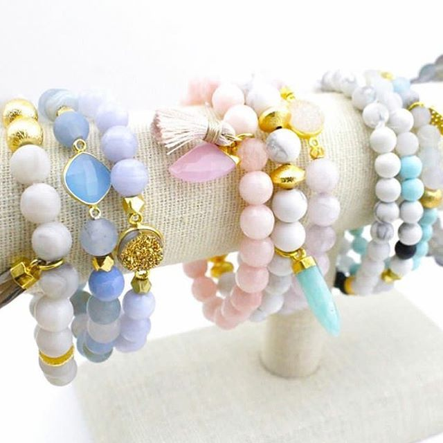 Summer approved jewels 💕 check out our bracelet stacks on the website- you get to mixed and match your own sets!