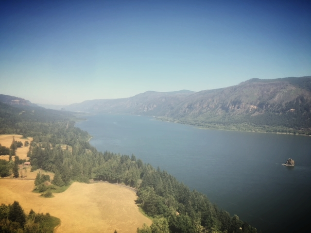 Travel Notes: Cape Horn Overlook -Highway 14 along the North side of the Columbia River, along the Washington/Oregon border.  Photo: Anna Caro.  Oh, to see what Lewis & Clark could see!