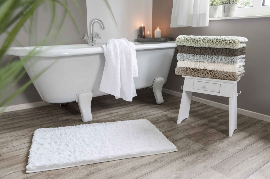 Tickle Your Toes - Step onto a sustainable solution with a plush bath mat from Grund America. These babies come standard with a five-year warranty, which is virtually unheard of in the realm of bath mats. Available in reversible or non-slip styles.The family-owned company has modest roots and started in Czechoslovakia in 1990, selling just 13 rugs to a local market. Since expanding production to the United States in 2014, sales of their machine-washable rugs have surpassed 30 million and the Grund Family remains committed to innovation, durability, and environmental sustainability.Anna's Pick: Grund America - Namo Non-Skid Organic Cotton Bath Rug in Green Tea, ($27.99 for a 17x24 inch rug).Image Source: grundamerica.com