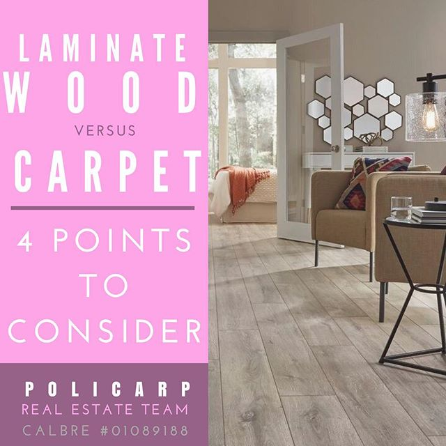 Thinking about renovating your flooring? Here are 4 points to consider when choosing between laminate wood and carpet. LINK IN BIO ________ #apartmentdecor #apartmenttherapy #homeowner #homedesign #renovation #remodeling #design #designforeveryone #wood #homedecor #homeowner #losangeles #la #dtla #lalaland #silverlake #highlandpark #losfeliz #bronsoncanyon #beachwoodcanyon #hollywood #realestate #losangelesrealestate #realtorlife #policarpteam #blogger #bhhs