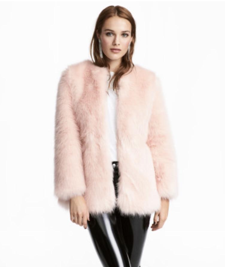 H&M - Faux Fur Coat