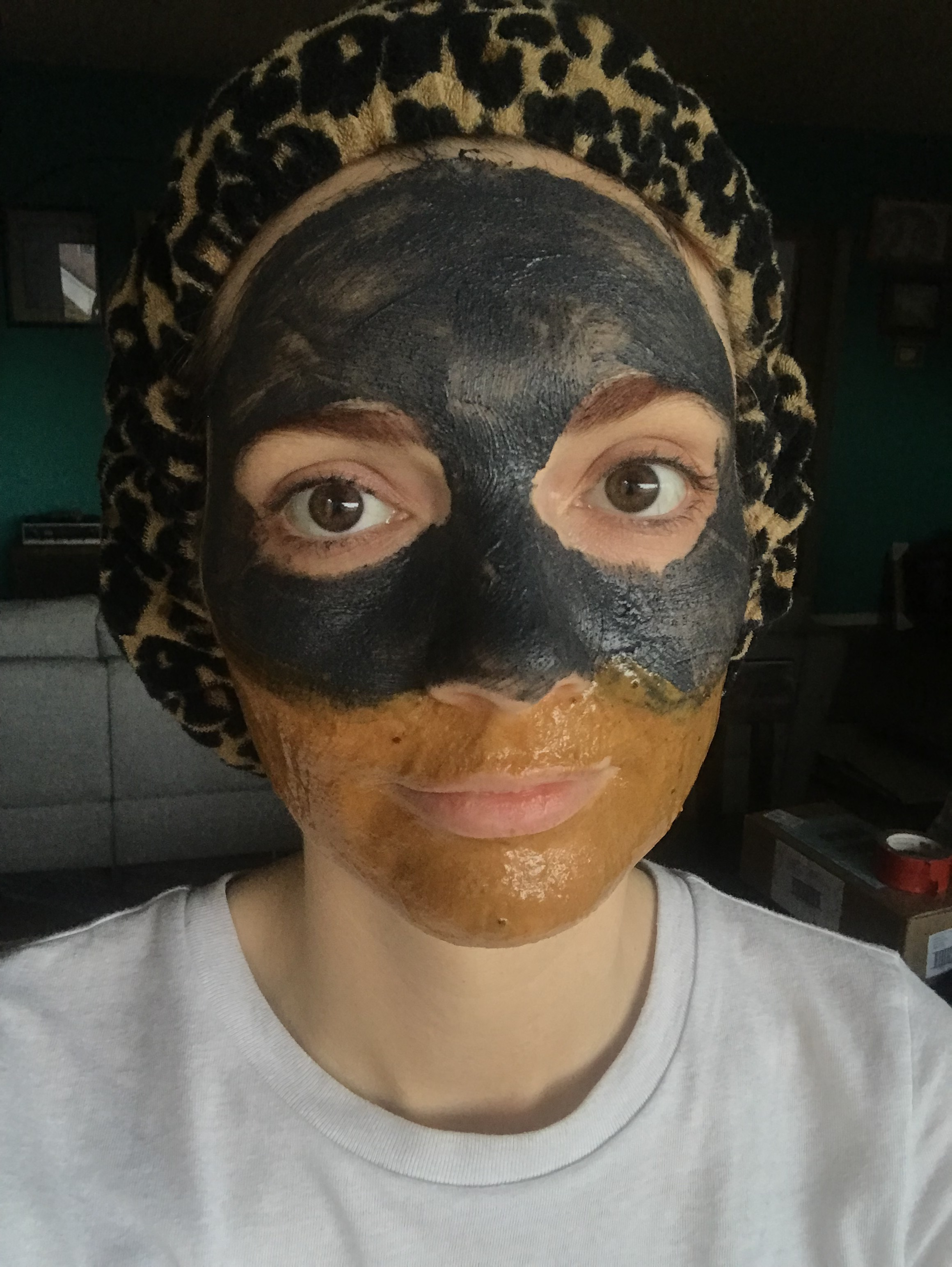 Jackie getting creative with Osea masks.