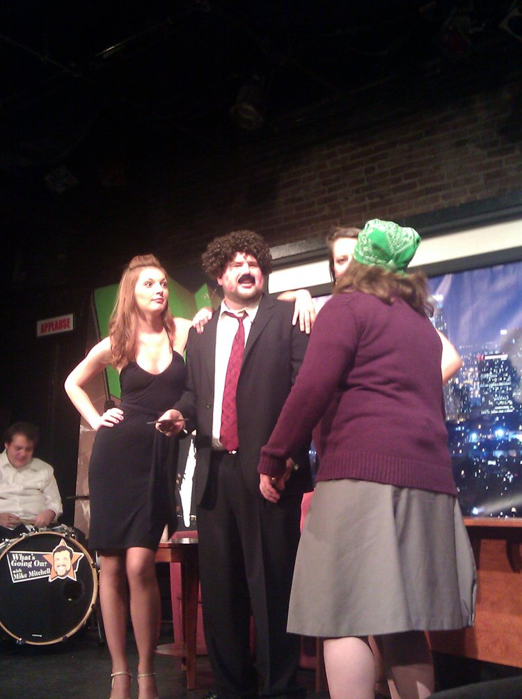 Me on stage with Mitch at UCB in 2011