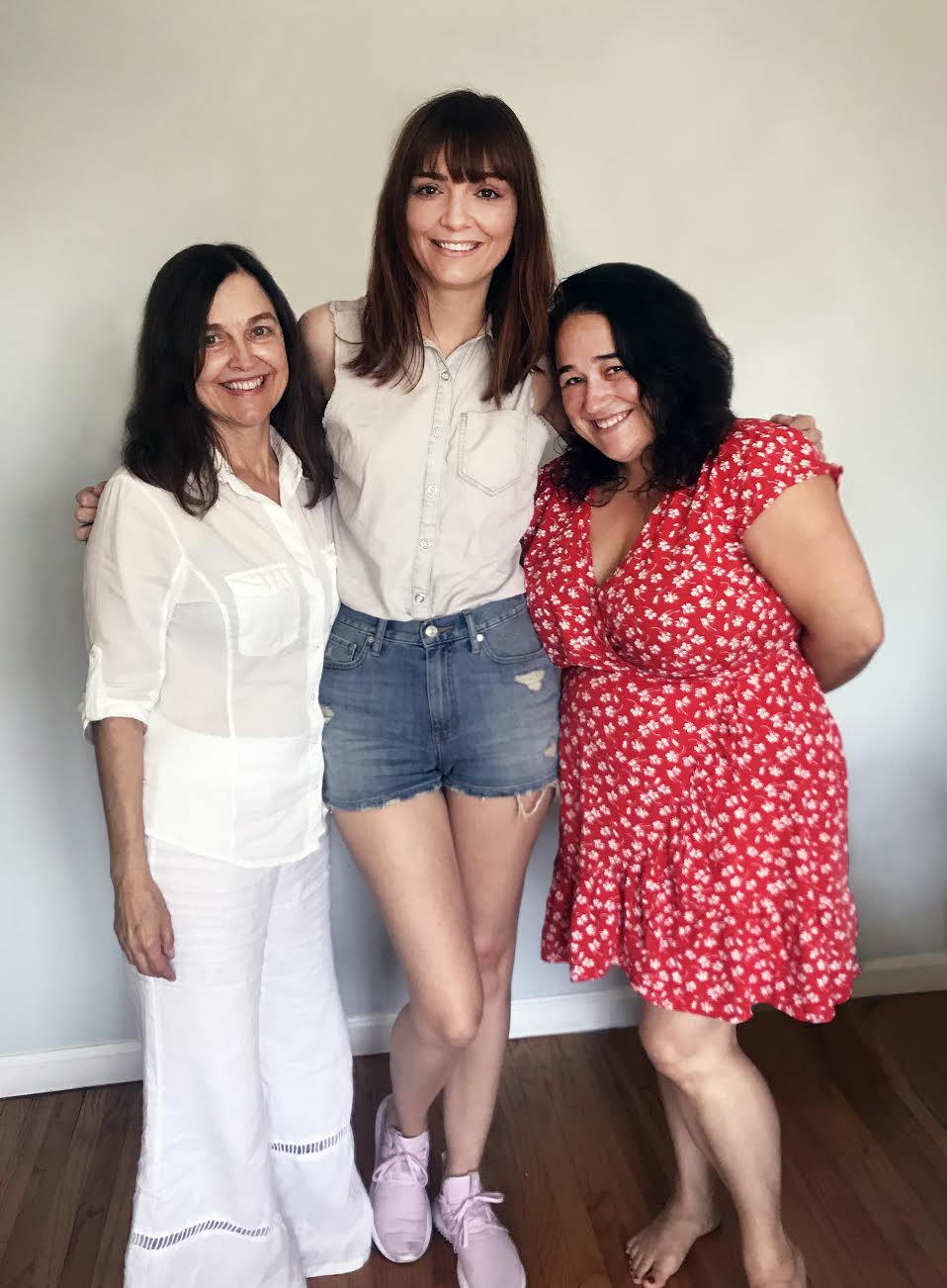Jackie with Jenefer and Melissa Palmer, the fab women behind OSEA Malibu.