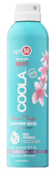 Coola Sport continuous spray Guava mango