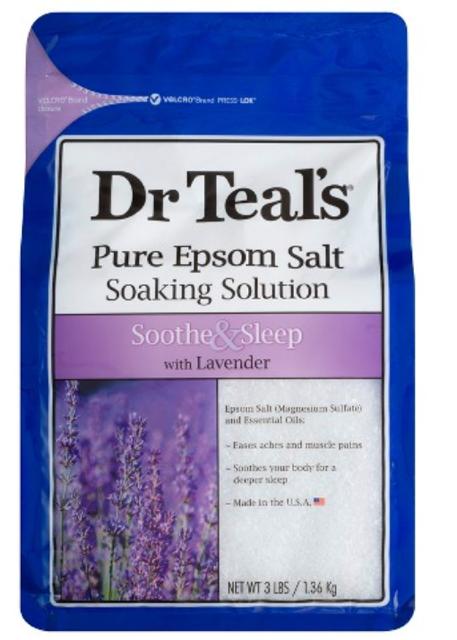 Dr Teal's Epsom Salt Soothe & Sleep Lavender Soaking Solution