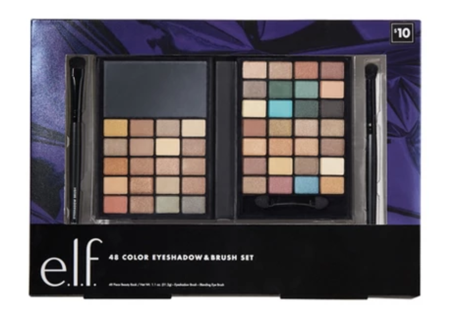 Elf 48 Color Eyeshadow and Brush set