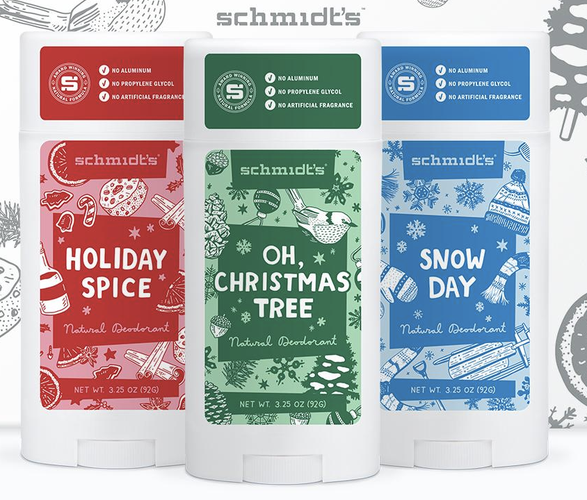 Schmidts naturals  Holiday deodorant collection