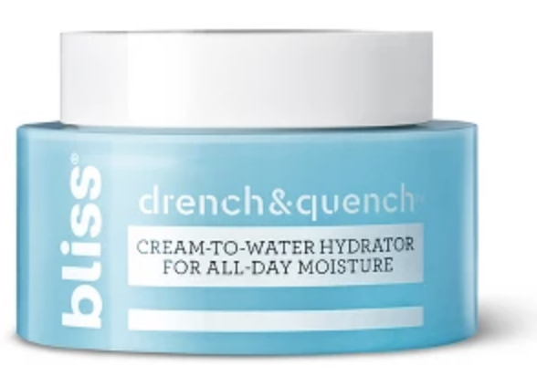 Bliss drench and quench cream to water moisturizer