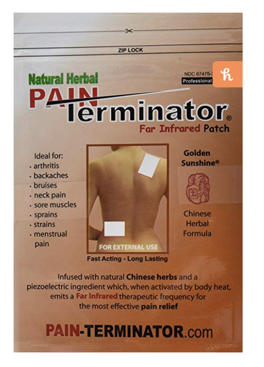 Natural herbal pain terminator infared patch