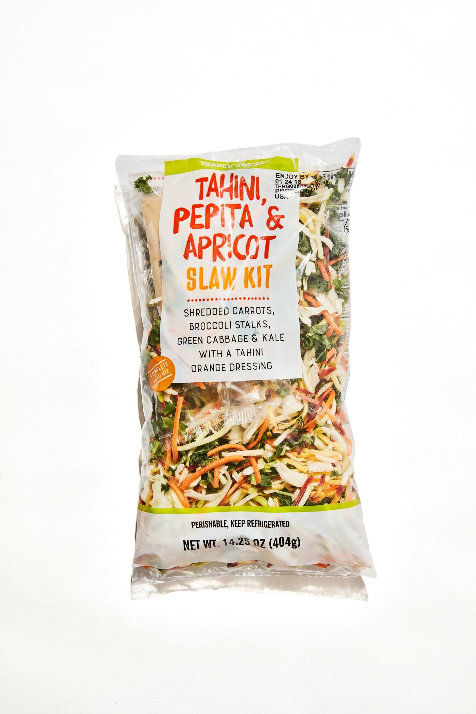 Trader Joe's Tahini, Pepita & Apricot Slaw Kit