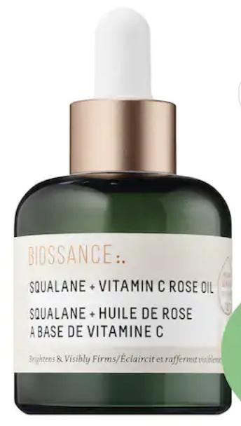 Biossance squalane vitamin C rose oil