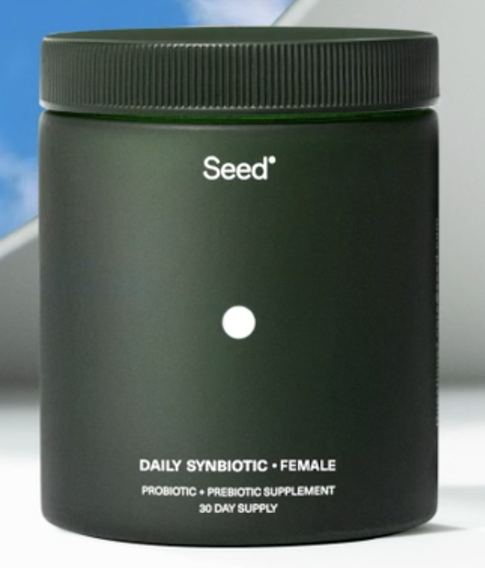 Seed probiotics Daily Synbiotic Female. Use code NATCH for a discount on your first month.