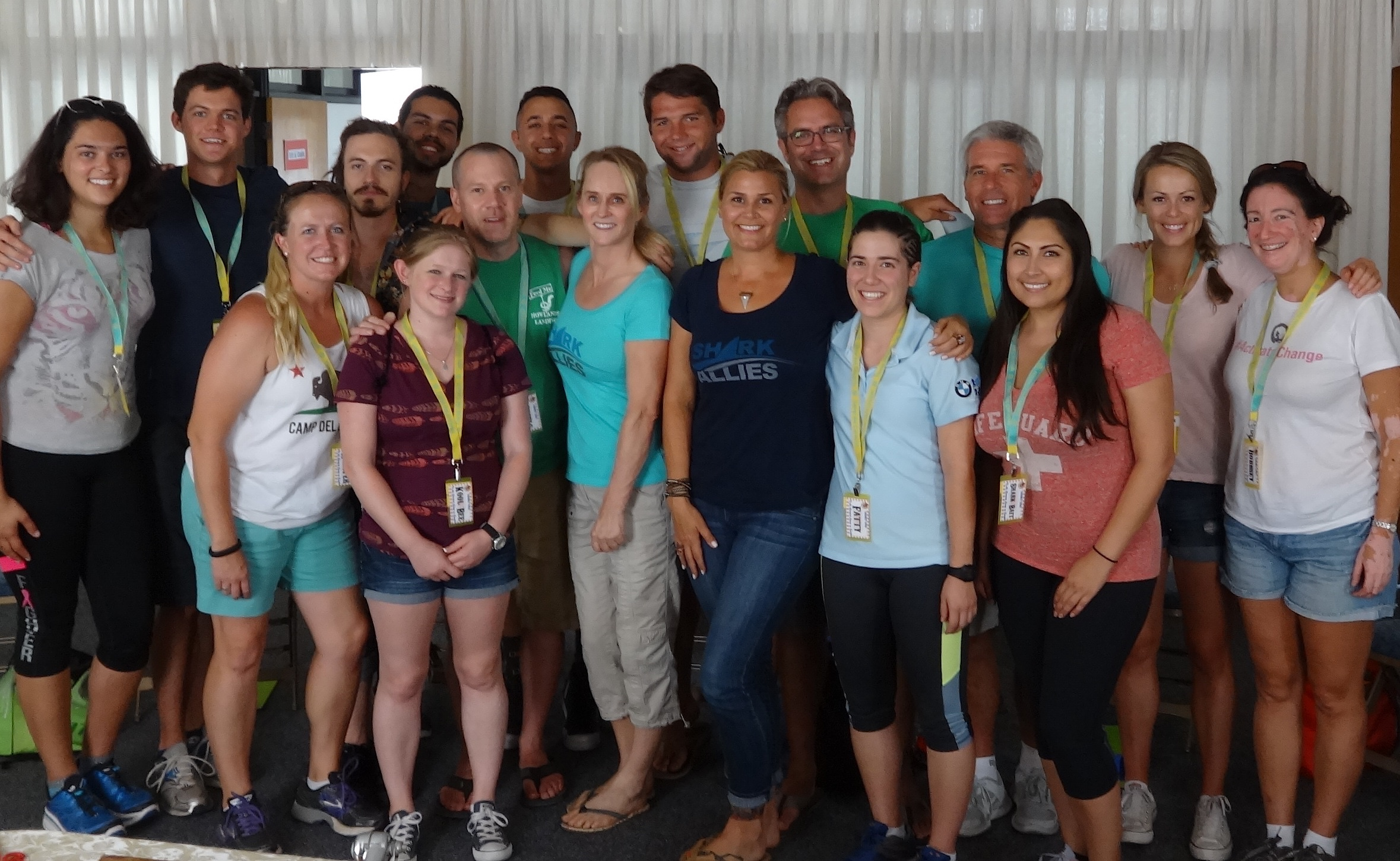 The team members and teachers of Camp del Corazon welcomed Stefanie and Erika