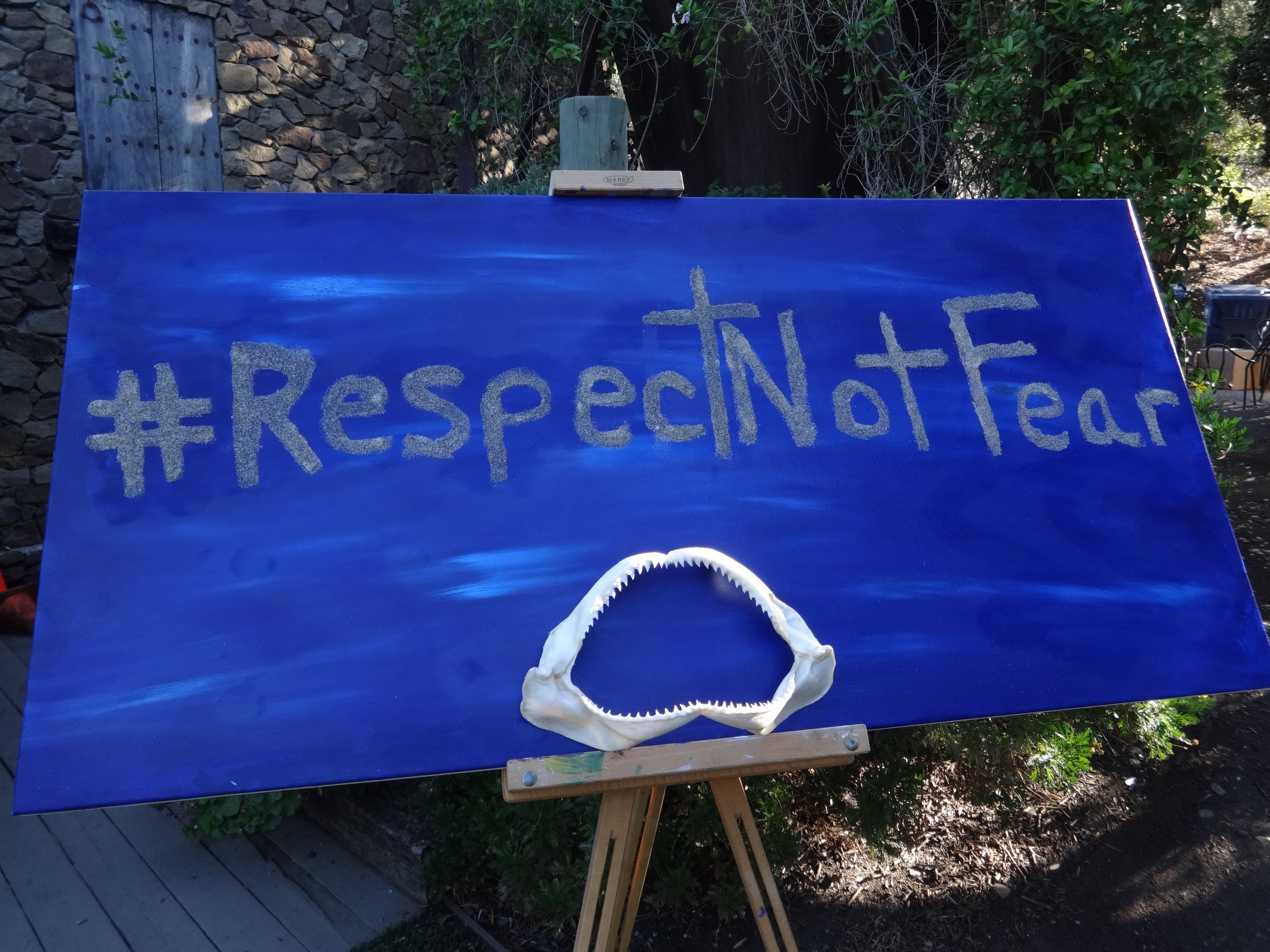 Sign at Malibu Wines shark event