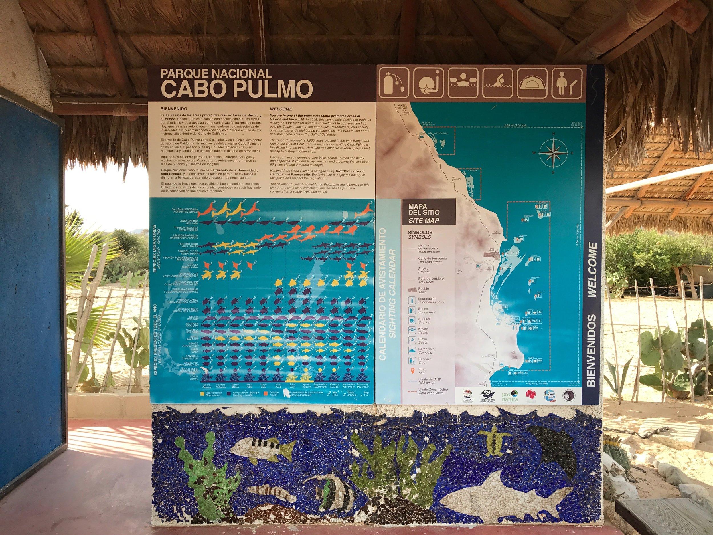 Cabo Pulmo Marine Park map