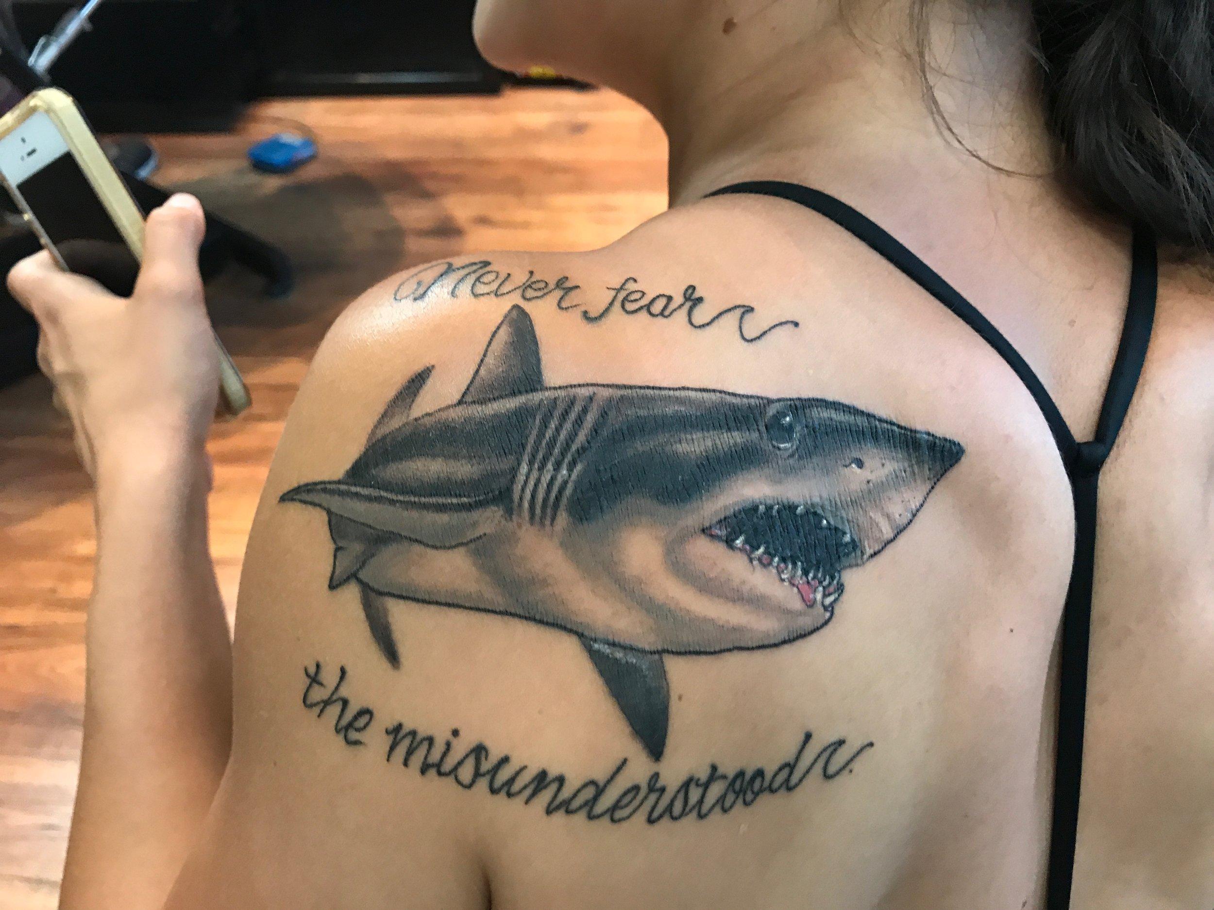 Mako Shark tattoo