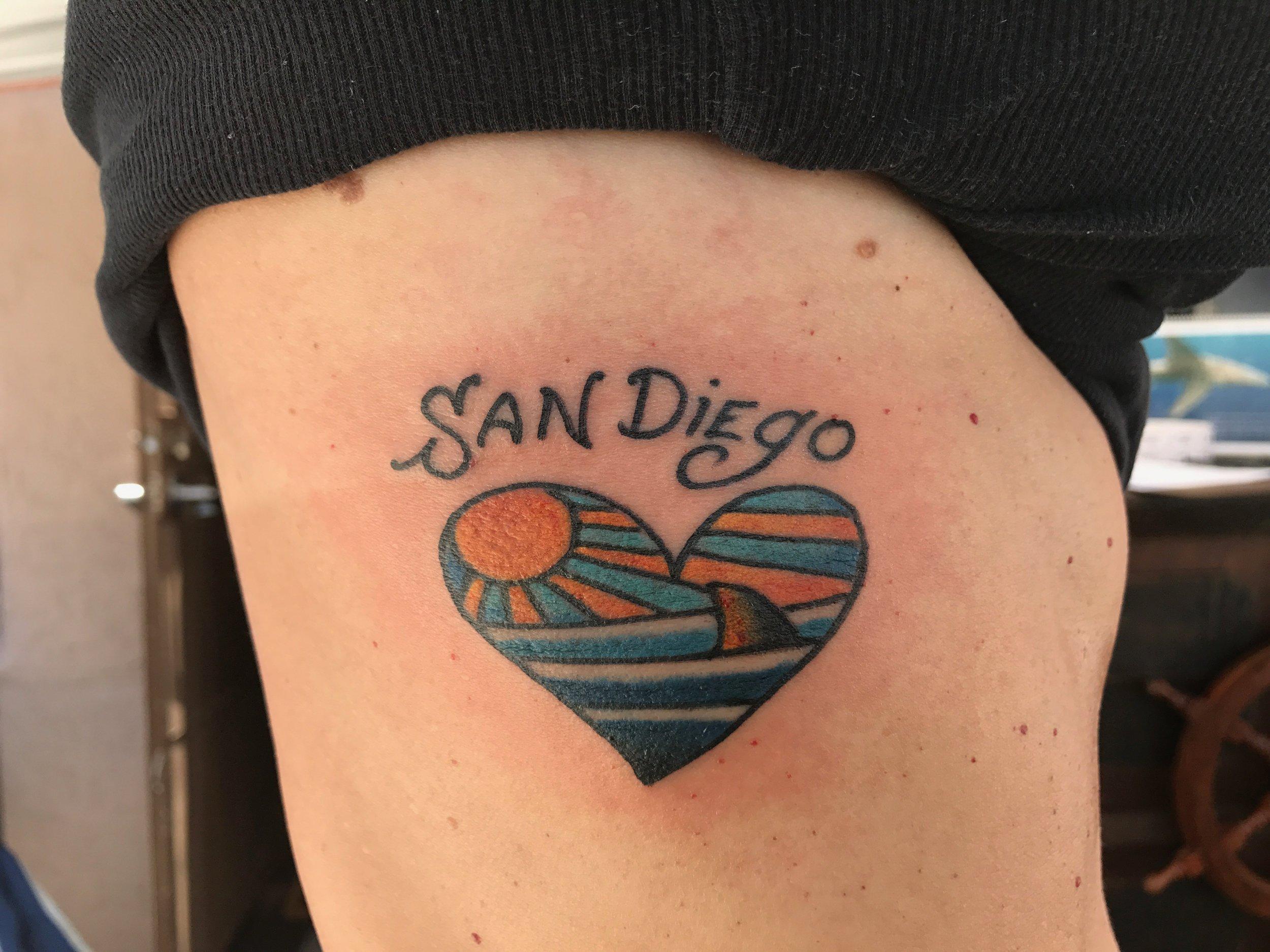 Love San Diego tattoo