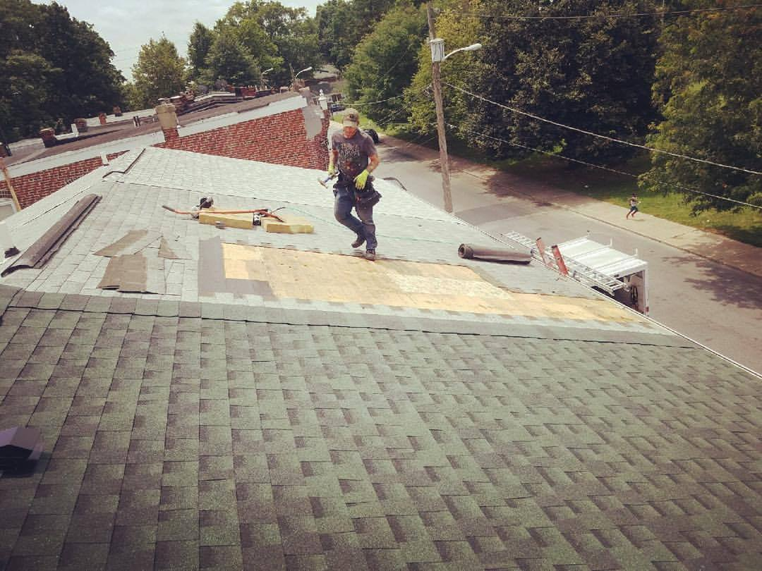 The process of a shingle roof installation