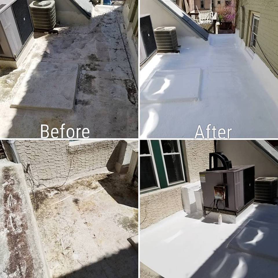 Silicone Flat Roof Coating