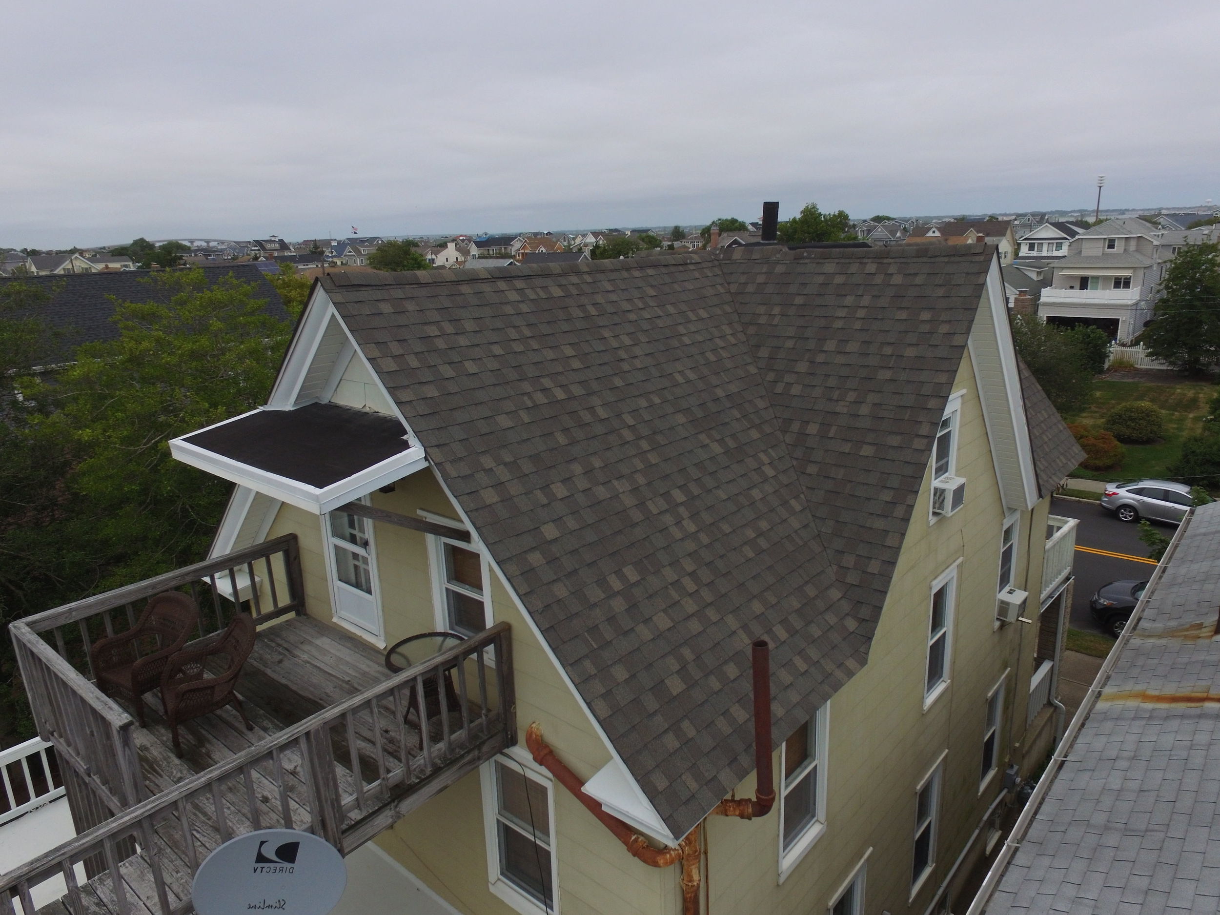 Side angle of Jersey rental property's roof