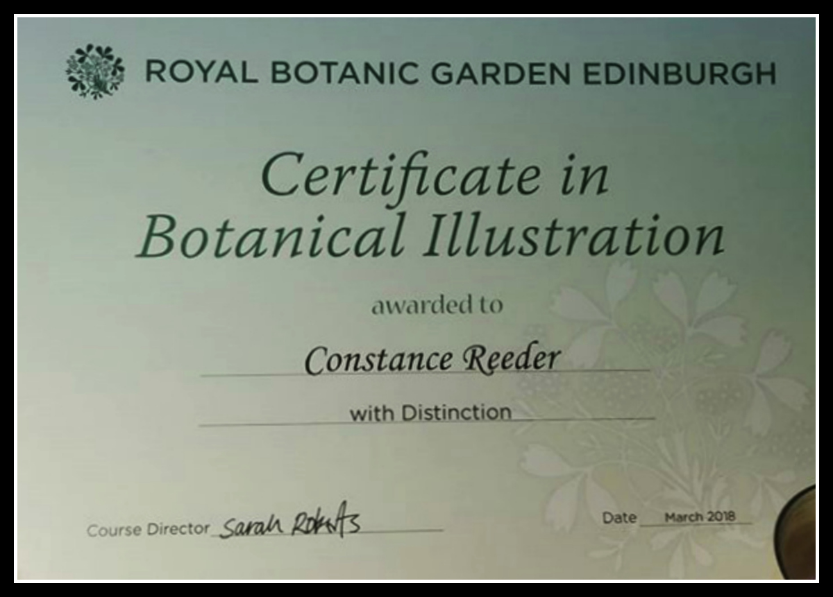 Royal Botanic Garden, Edinburgh - My Completion Certificate