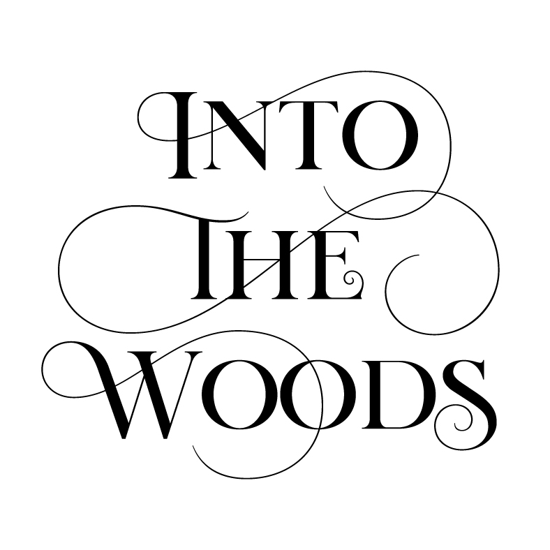 """Into The Woods   Logo for the musical fantasy production """"Into The Woods"""". The show is a modern twist on classic Grimm fairy tales, intertwining the plots of a few choice stories. As the plot progresses, the show takes dark, complicated twists and turns."""
