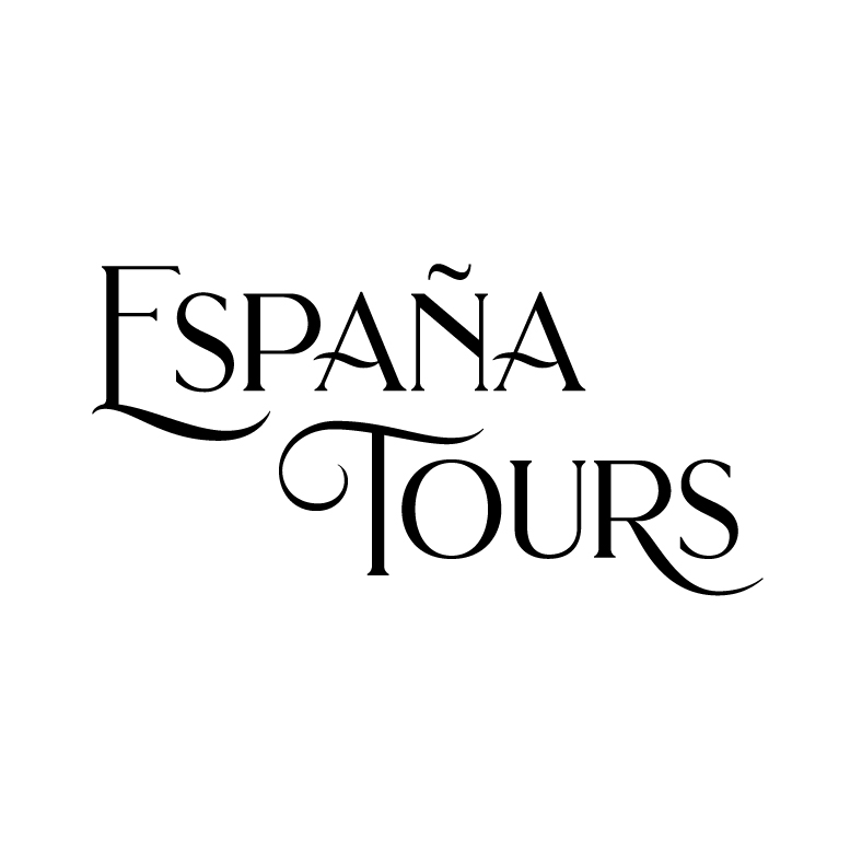 España Tours   España Tours organizes family and group trips to Barcelona and Madrid. The trips are packed with wine tastings, cooking classes, cycling excursions, and more. The client envisioned a logo that was worldly and oceanic, with a Spanish flair.