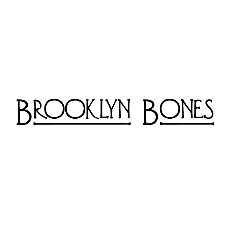 Brooklyn Bones   Brooklyn Bones is an edgy jewelry line that is inspired by architecture and natural elements. I helped the client name the business, then designed the logo to suit the jewelry line's grungy aesthetic.