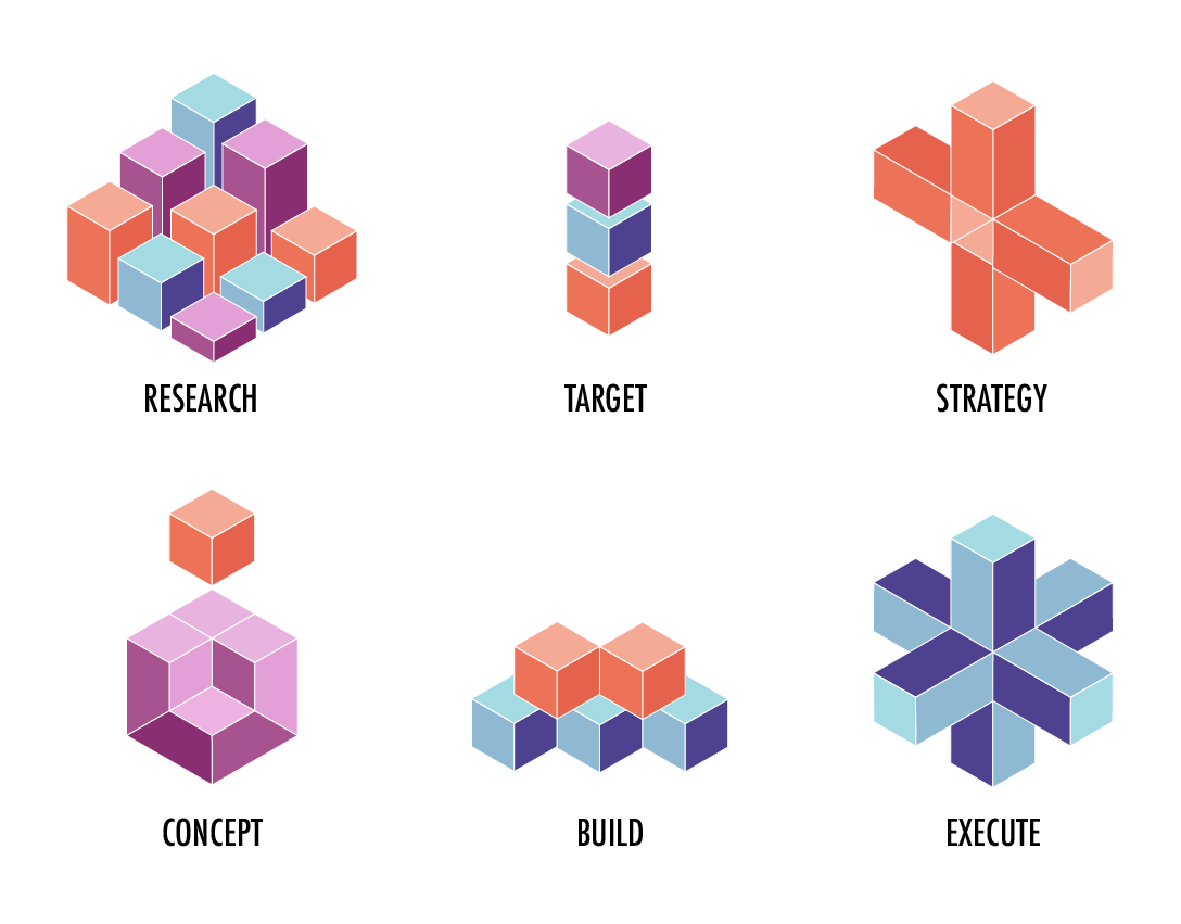 Isometric icons for Corvus Solutions