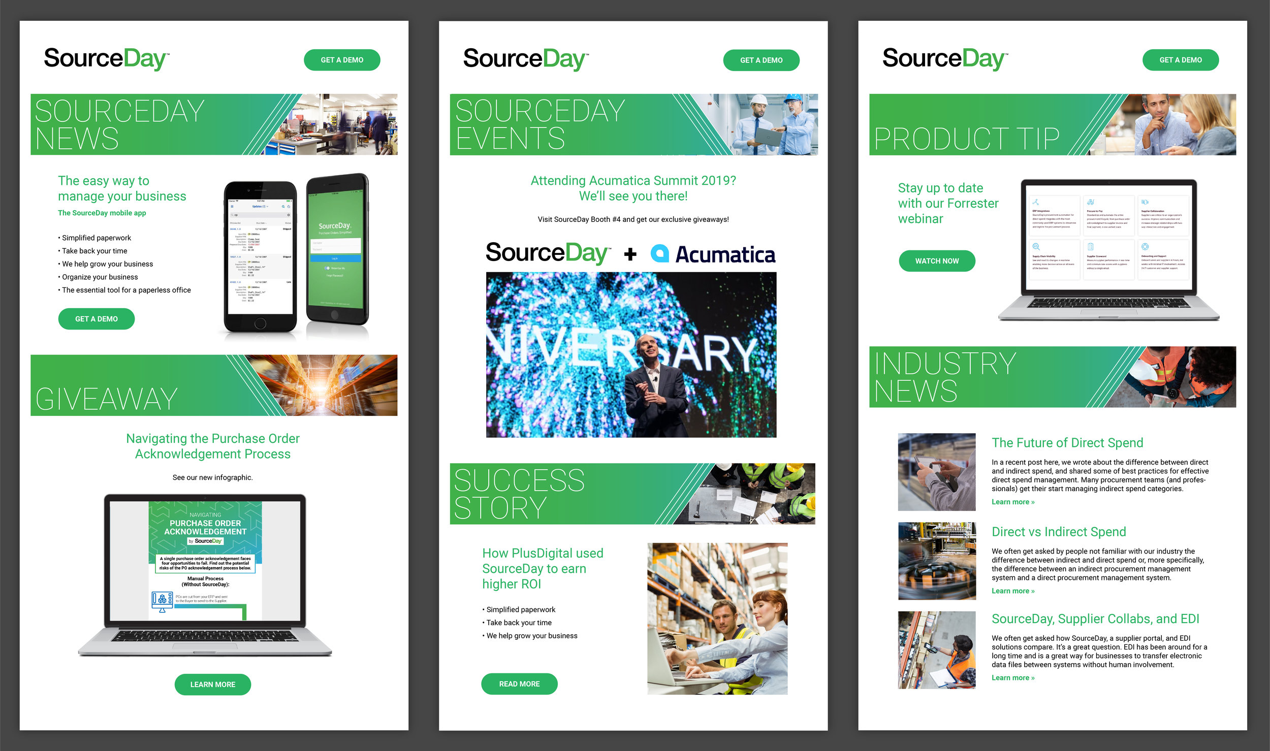 Email banners created for SourceDay