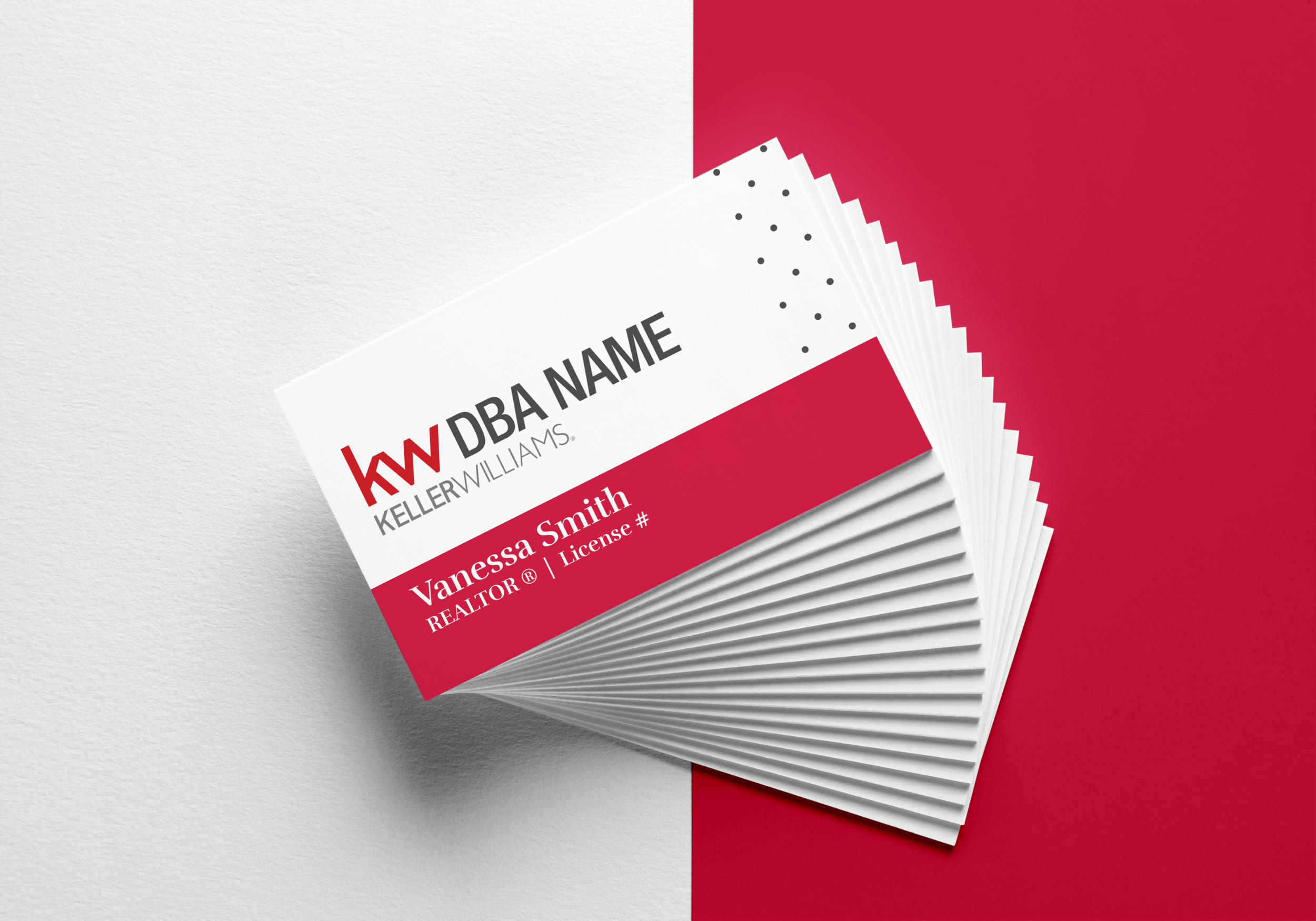 One of the business card options I created for Keller Williams' agents to choose from.