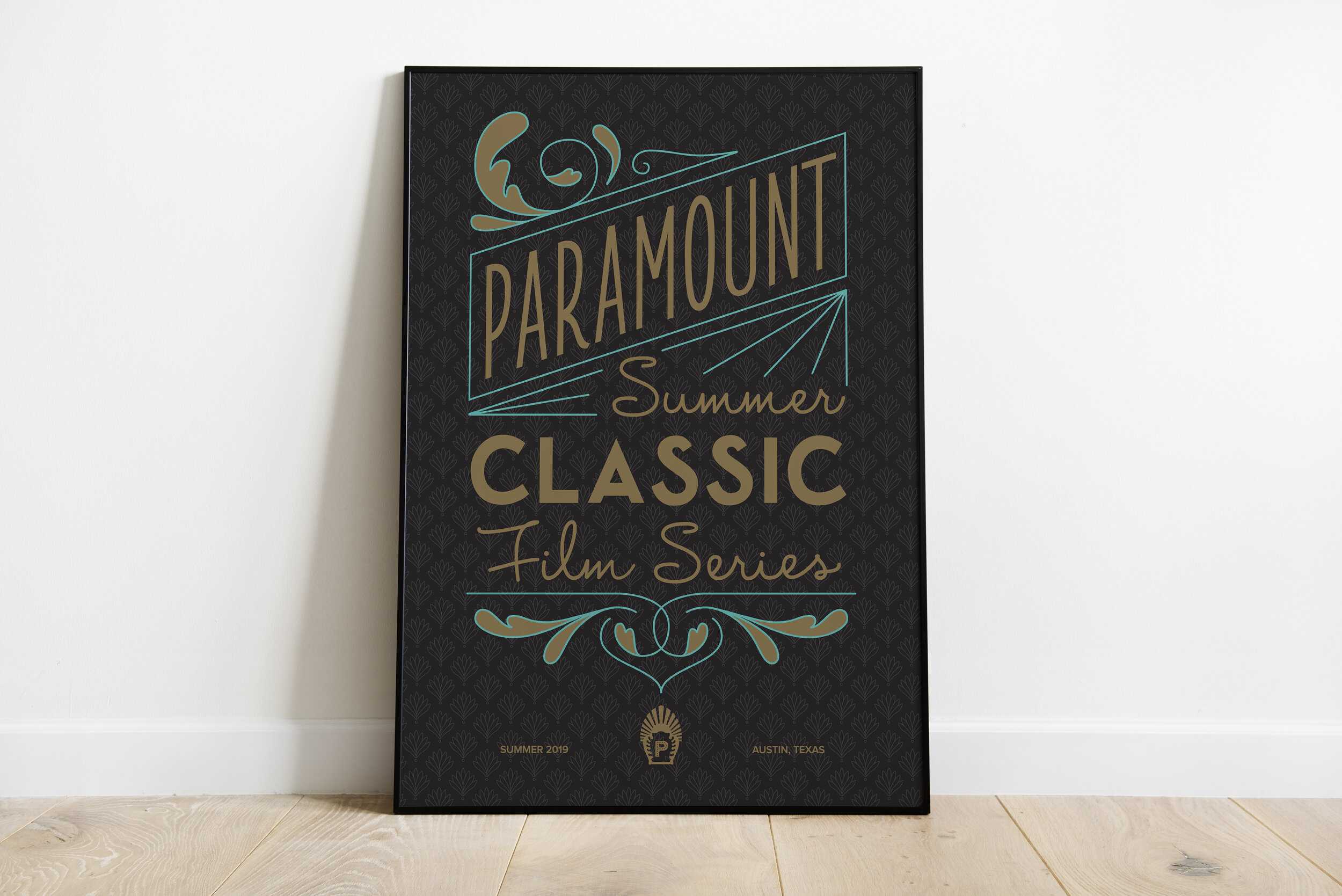 Hand lettered poster and t-shirt design, created for Paramount Theatre.
