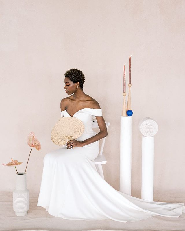 BREATHE 🌱I'd like to live in this space right now.  x  Style + coordination @pocopink  photography @haleyrichterphoto  dress @libertyandlacebridal  makeup @shimmerandspice  venue @feastyoureyescatering  florals @ferox_studio  backdrop @dustedbackdrops  ring + earrings @barioneal  model @jaynaomia  cake @nutmegcakedesign  invitations + paper goods @shindigbespoke  ceramics @cloud9clay  x  Current space: fluorescent lights, lap top, pile of tax docs and a pile of questions for our accountant 😬😭