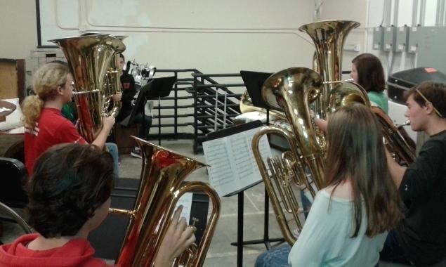ballard high school tuba/euphonium section, 2017