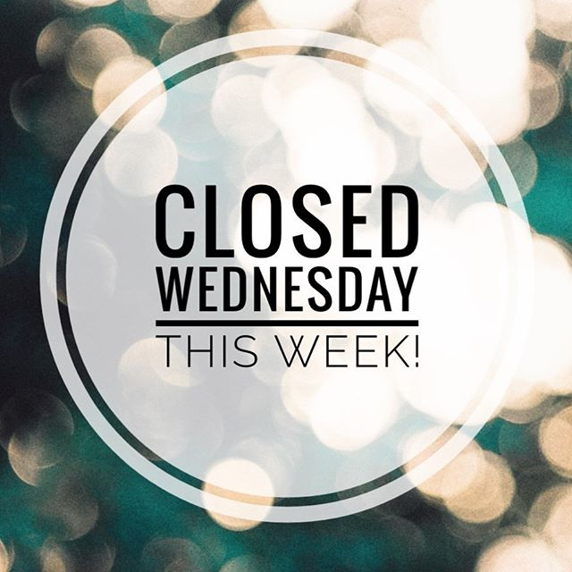 We are closed all day on Wednesday this week (28th Aug) for training purposes! Open every other day to meet your piercing needs 😊 We hope you have a great week 💕💕