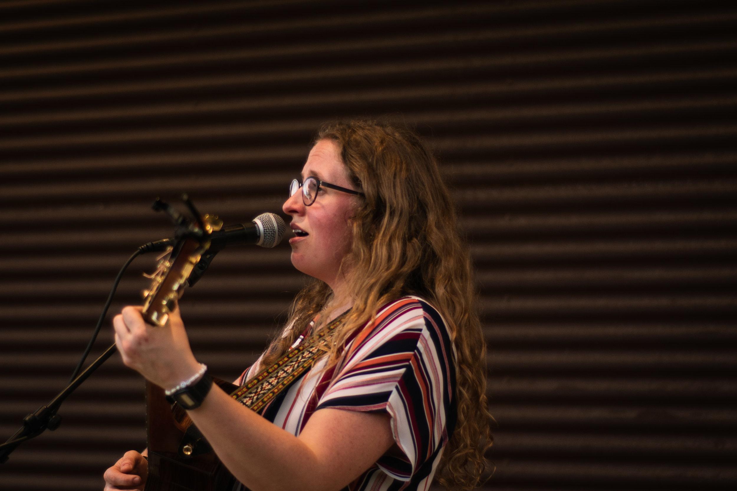 Emily Morris singing