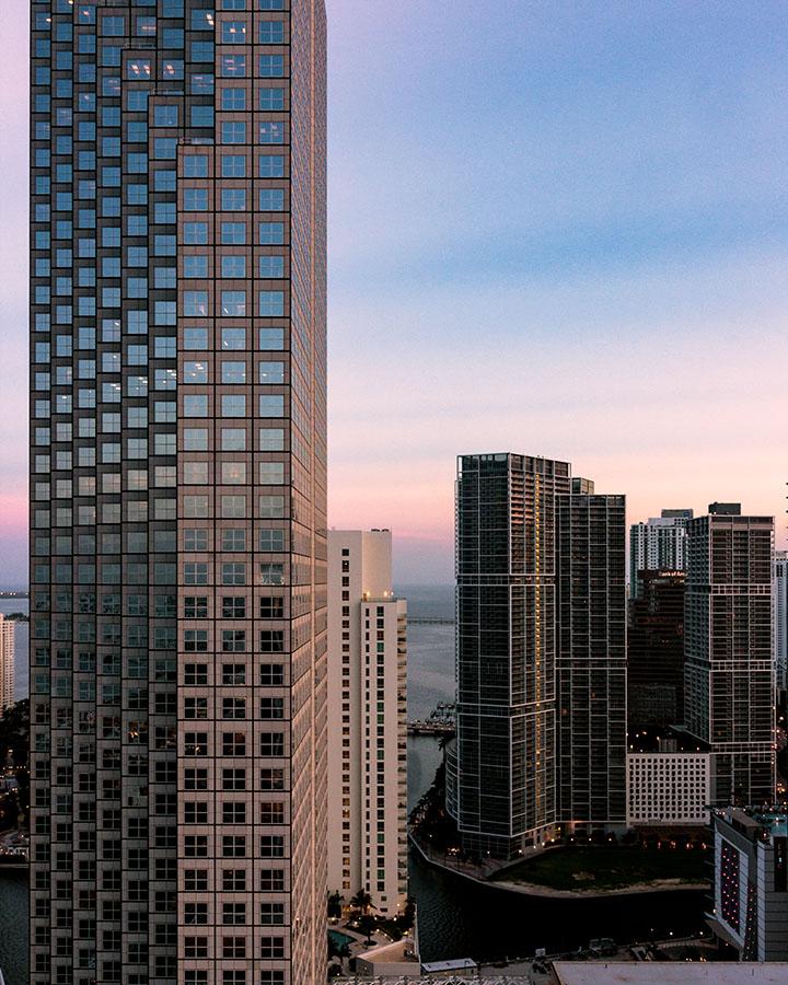 Sunset, Downtown, Miami, 2009