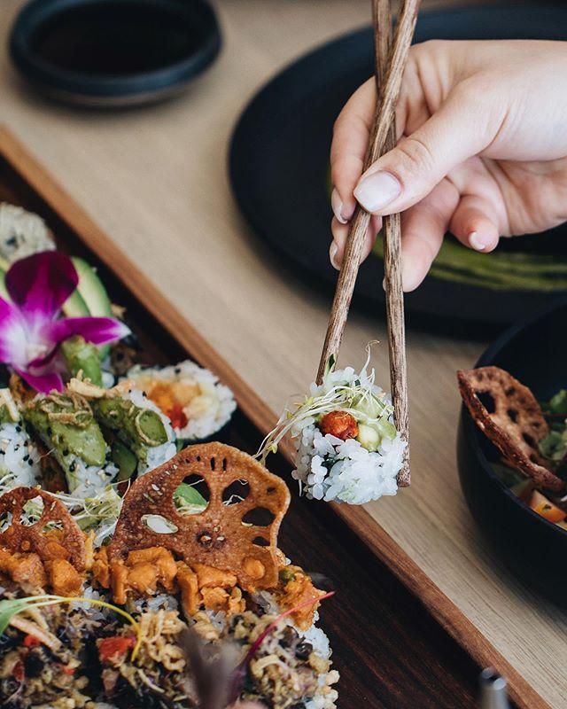 Tonight on the menu; vegan sushi 🌱 @bloomsushi  #bloomsushi