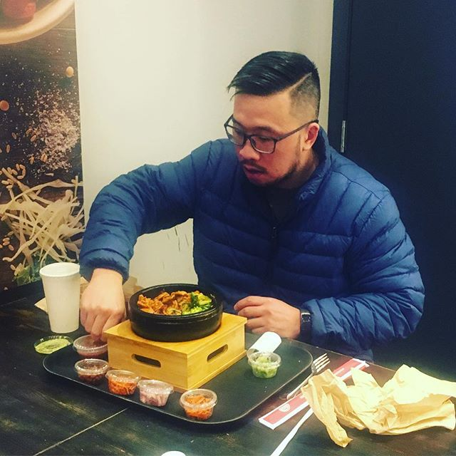 fresh cuts and hot bowls #koreanmale #spicypork #bibimbap #koreanfoodlover #family #giwakitchen #eatfresh #eatclean #phillyeats #swagfoodphilly