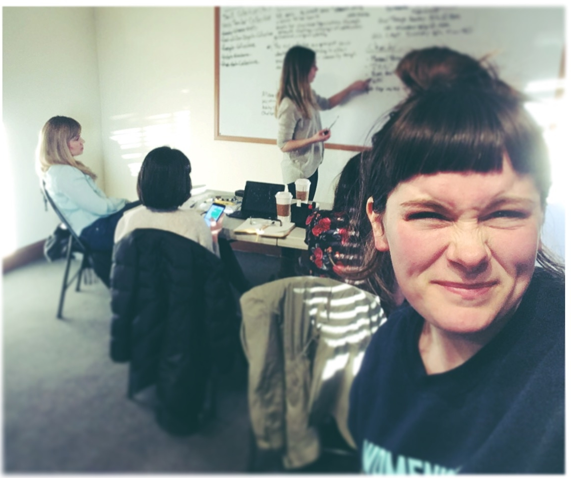 A day for the books... - With 5 women in a room, 1 on speaker phone, big ideas, lots of heart, and a white board, we had our first official meeting as a collective. It was totally ShrillAF.March 5, 2017