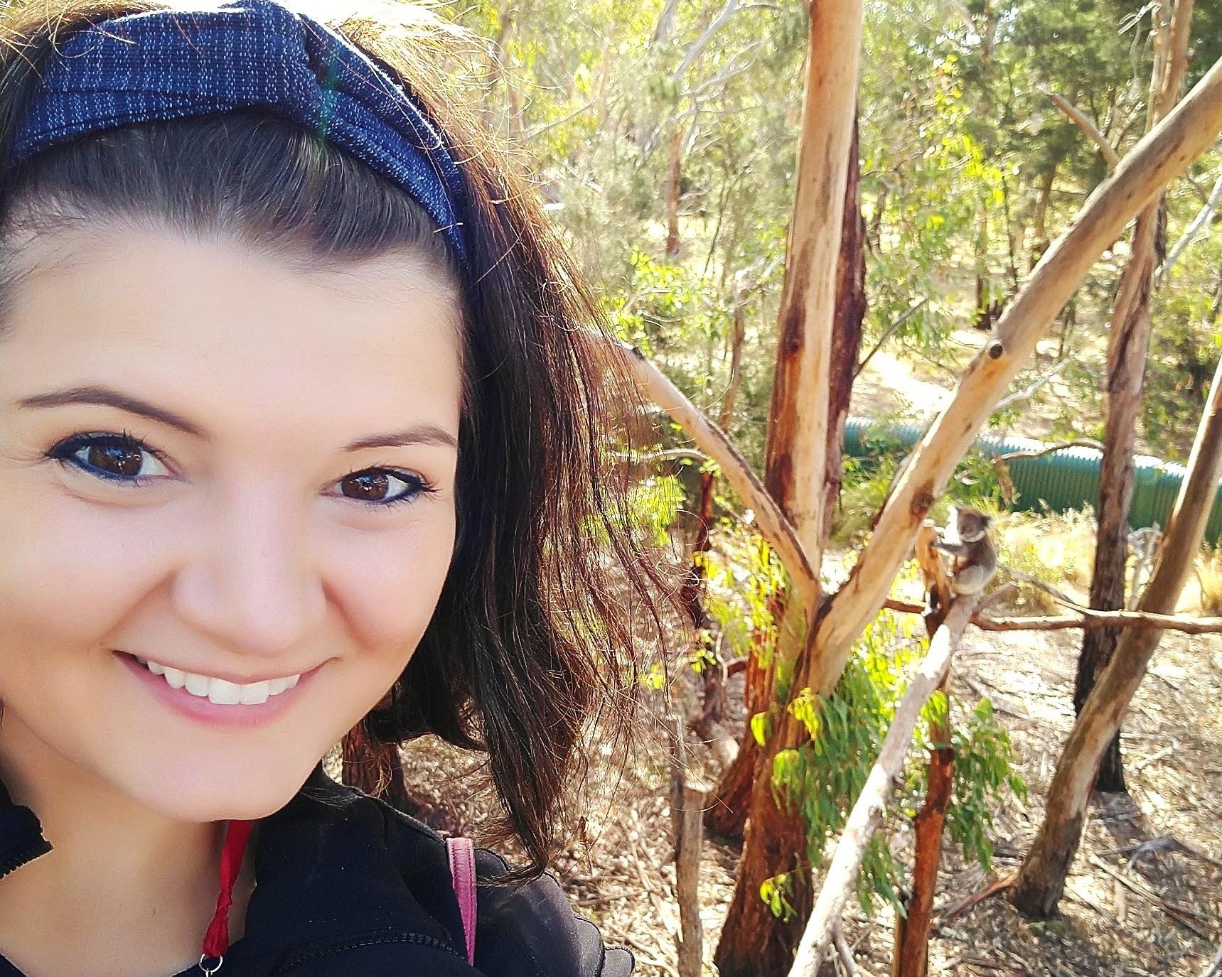 Whitney at Koala Reserve on Phillip Island