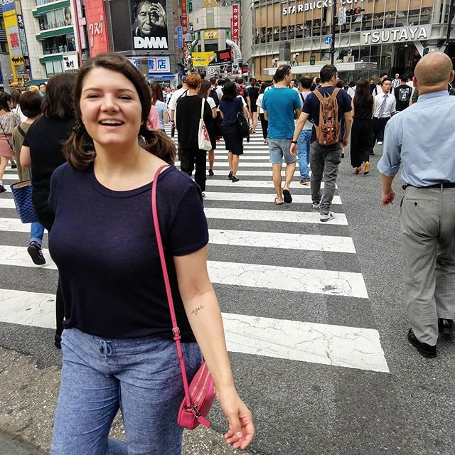 """""""Roll call!""""--Me annoying Antone with the Shibuya chant as I crossed the scramble 10000000 times.  #travel #traveltokyo #shibuya #shibuyacrossing #shibuyascramble #japan #theoffice #rollcall #adventureawaits"""