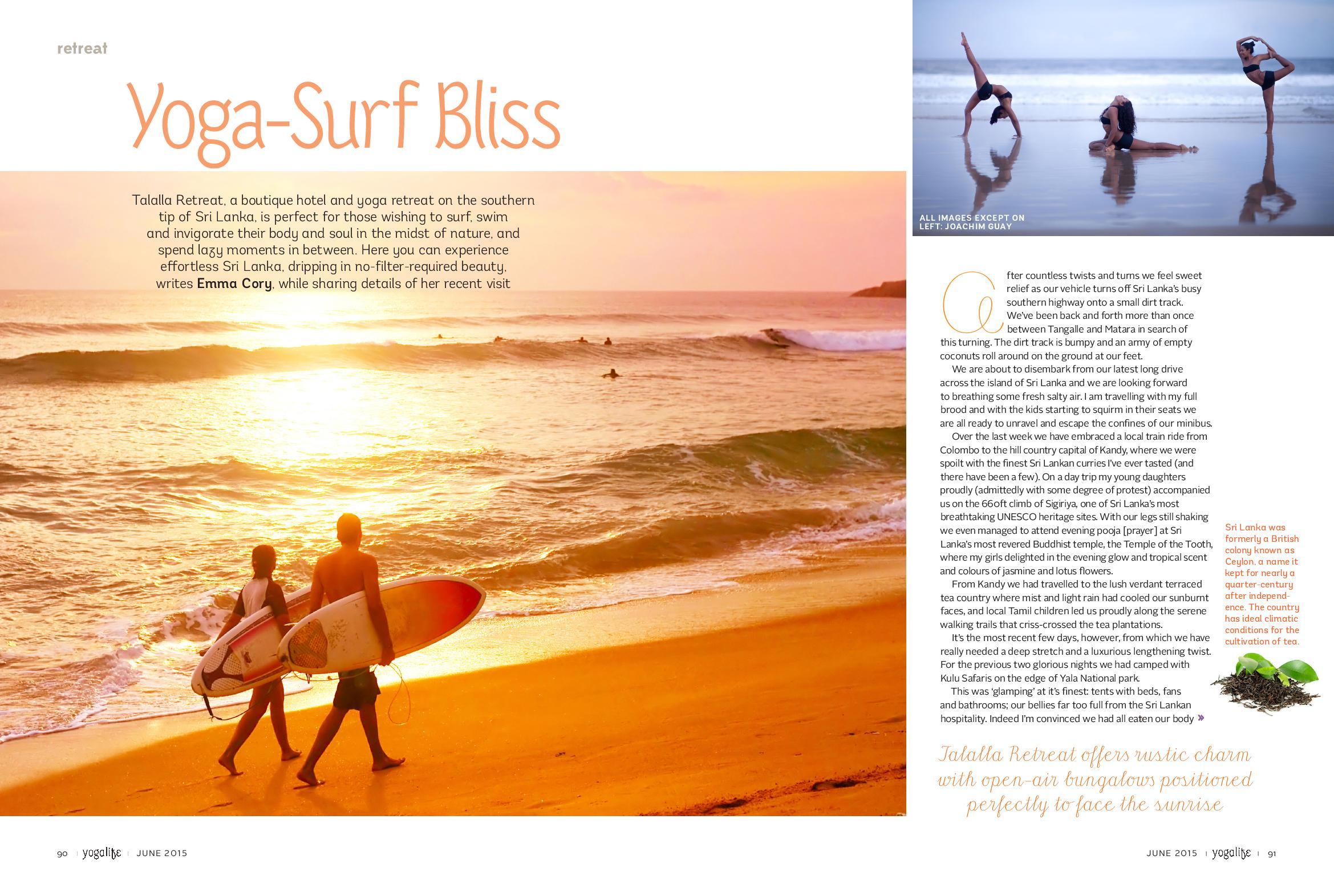Published in Yoga Life Middle East Magazine