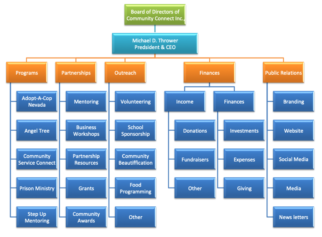 Organizational Structure as of July 2019