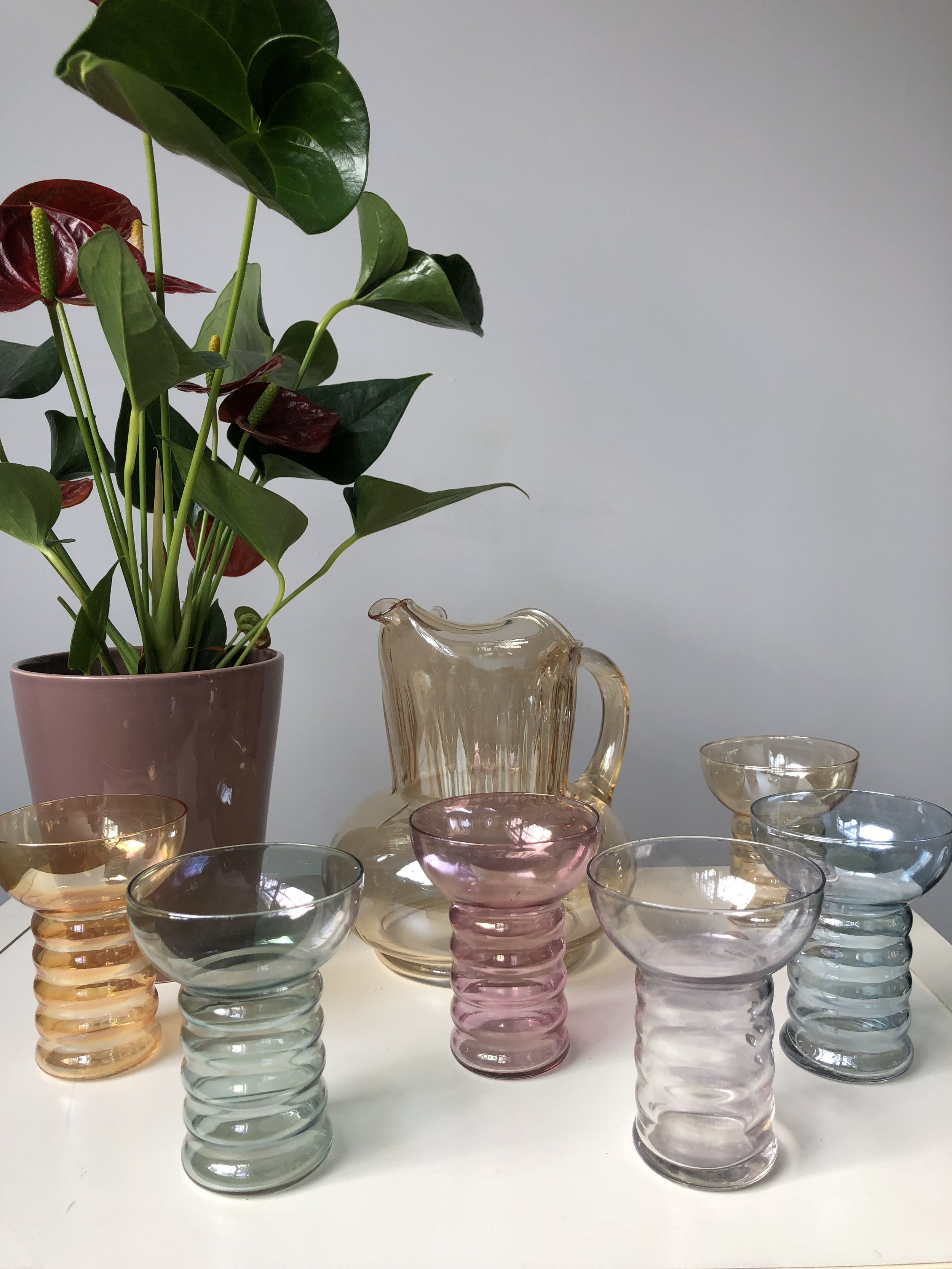 Vintage Home Goods - From glassware sets, to enamelware to a unique letter holder. Everyone always appreciates being able to add special touches in their home.