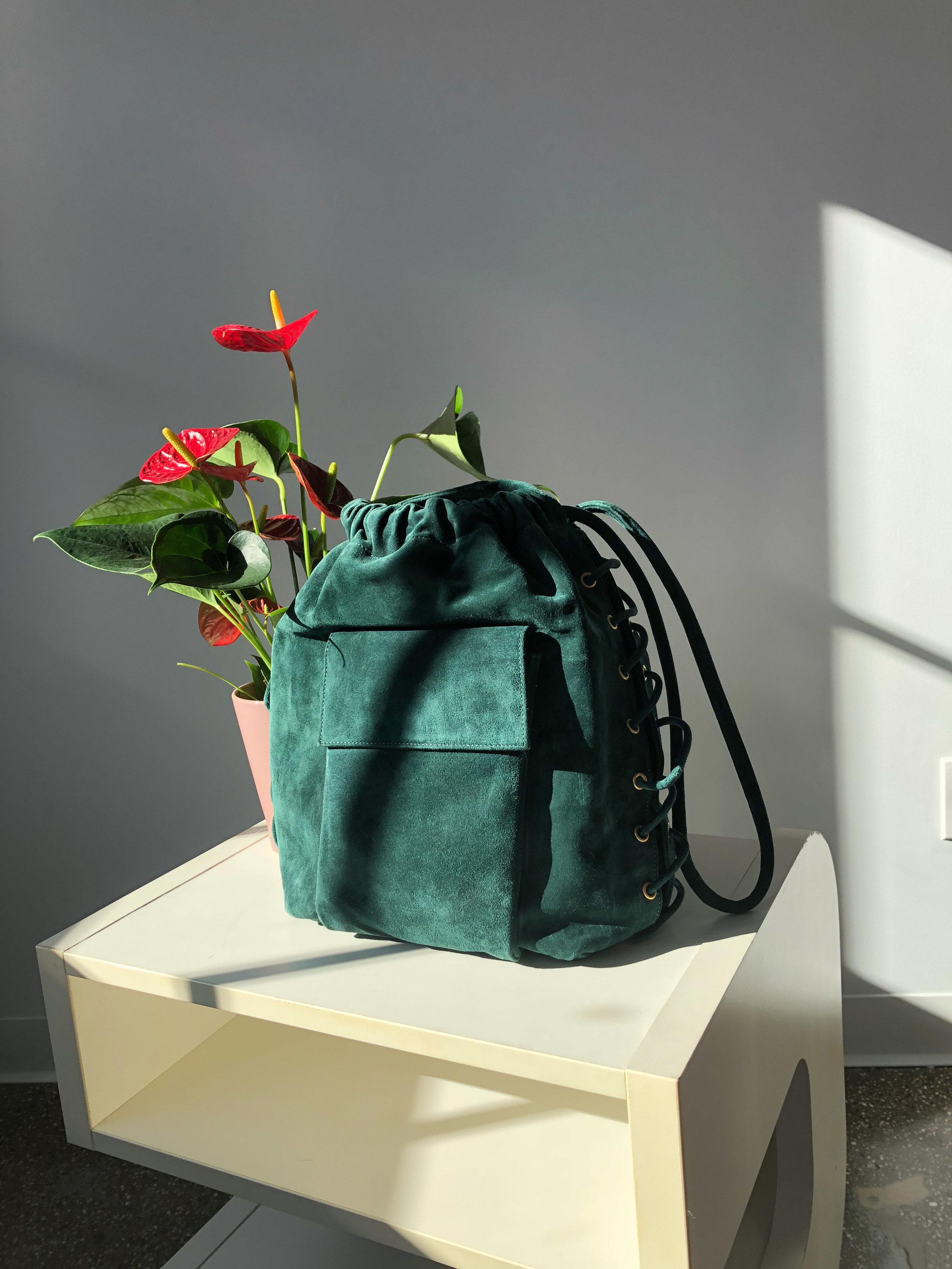 Vintage Donna Karen Leather Bucket Bag, $65