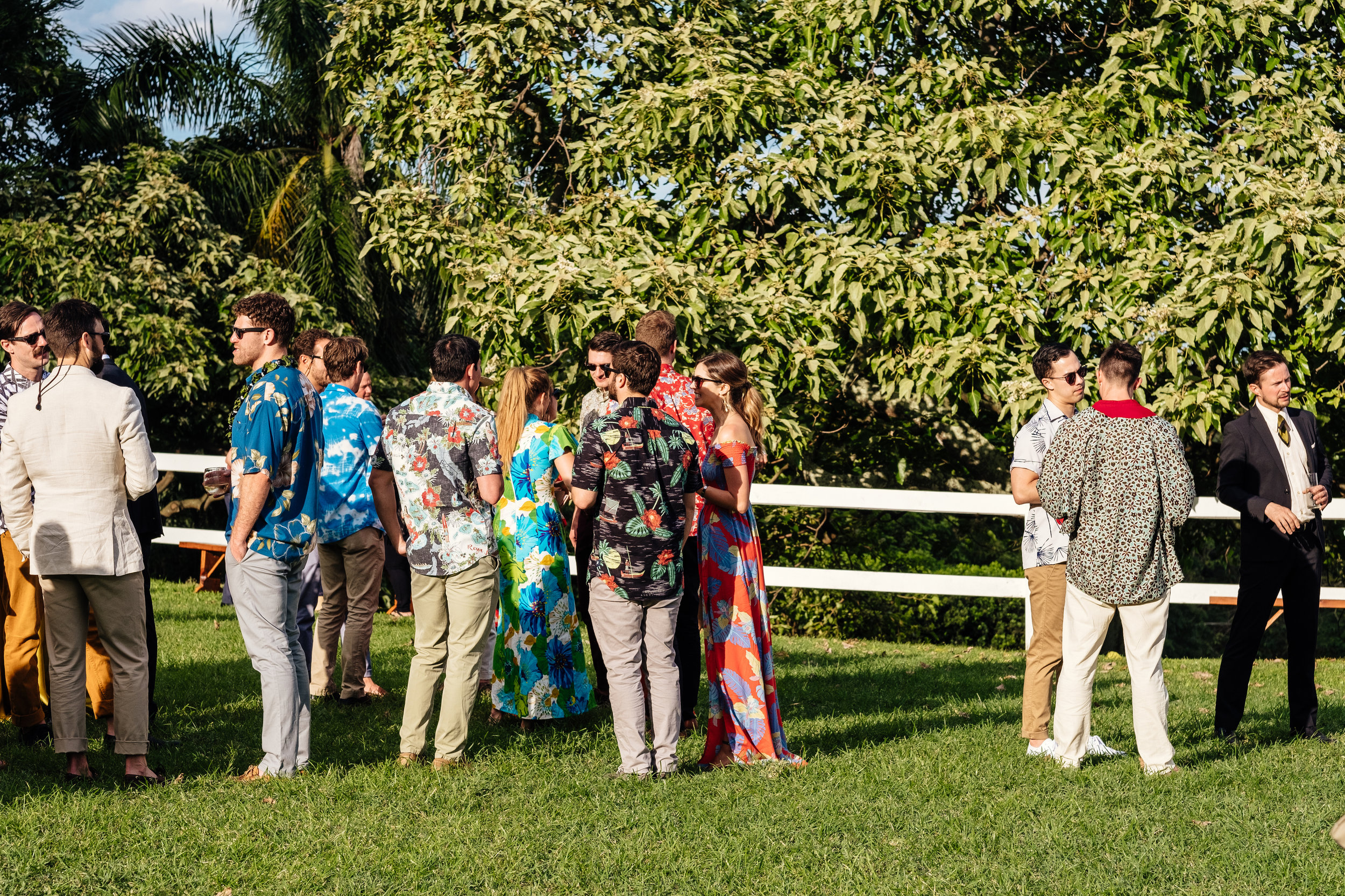 "Our attire theme was ""Vintage Aloha"" - can you tell? ;)  Photo by  Charlie Aufman"