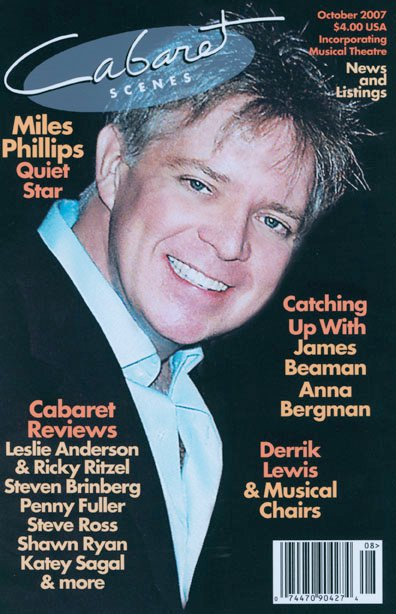 Read  Miles' Cover Feature interview for Cabaret Scenes
